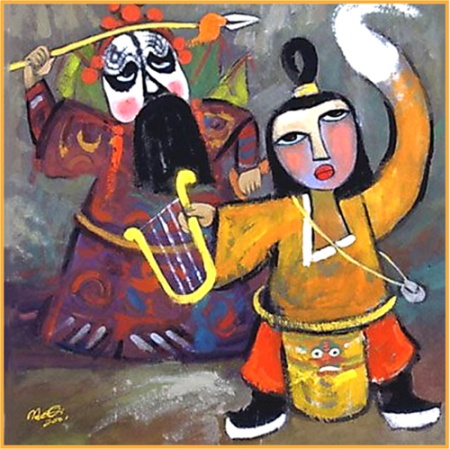 """David and Saul"" by contemporary Chinese artist He Qi"
