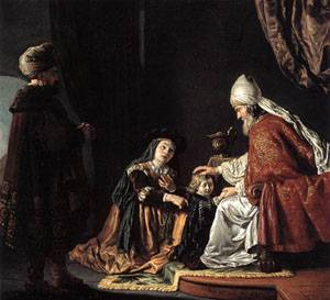 """""""Hannah giving her son Samuel to the priest"""" by Jan Victors, 1645 (Staatliche Museen Berlin)"""
