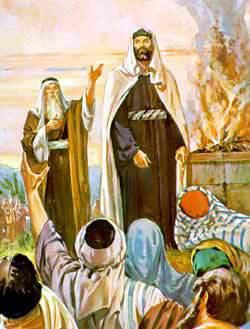 Samuel presents King Saul to the Israelites.