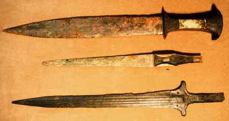 The Philistines carefully guarded their technological advantage of iron weapons. They were sea farers and may have gained their metal working skills from cultures to the west, especially Greece.
