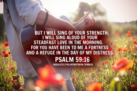 Ps59 I will sing