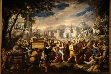 """David bearing the Ark of Covenant into Jerusalem""  by Domenico Gargiulo"