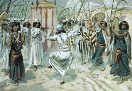 'David Dances before the Ark' by James J. Tissot (1896-1902), (The Jewish Museum, New York)