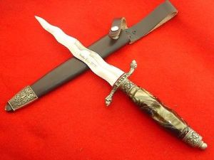 Perhaps the weapon Joab had was not as nice as this Linder dagger, but it will prove effective enough for his task.
