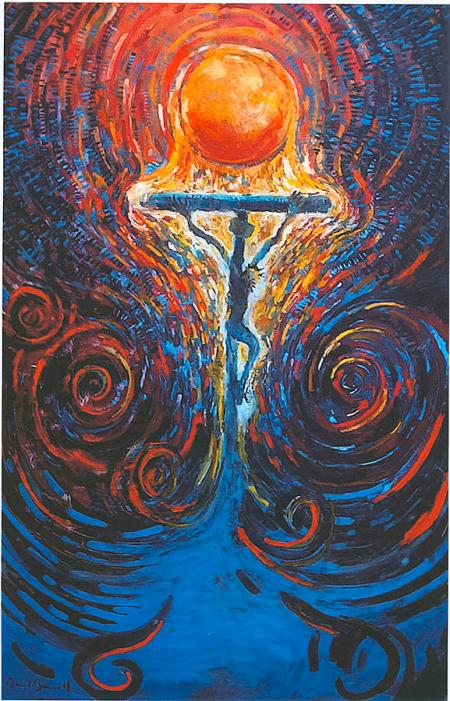 """""""The Beautiful Mess"""" painting by Daniel Bonnell (Woodland Lutheran Church, St. Paul, MN)"""