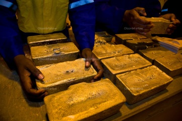 Newmont Ghana is a two year old gold mine that pulls about 500,000 onces a year out of this gold mine. The helicopter came in for the gold today so it had to be packed and sorted. They shipped out 14 bars with an average weight of 22KG each and worth about 7 million USD. Main contact at Mine is Scott Santti, Mining Manager santti@newmont.com +233 21 701 1852 +233 24 433 4468 And contact for gold room and security is Vernon Lange vernon.lange@newmont.com +233 21 701 1852 +233 24 433 2515 Fixer is: Kofi Adu Dankwah (+233 24 474 9756)