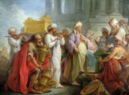"""Solomon Before the Ark of the Covenant"", by Blaise Nicholas Le Sueur,1747."
