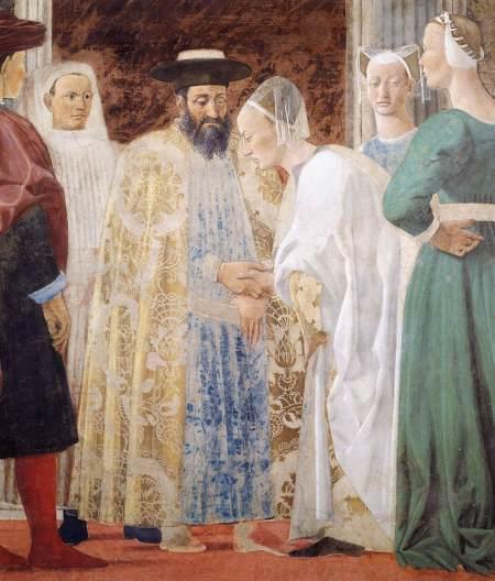 """""""King Solomon and the Queen of Sheba,"""" by Piero della Francesca"""