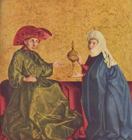 """Solomon and the Queen of Sheba,"" by Konrad Witz, 1434 (Kunstmuseum Basel, Basel, Switzerland)"