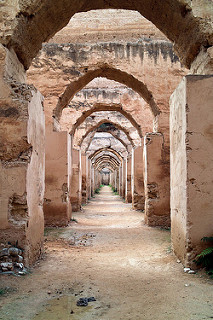ancient stables in Morocco