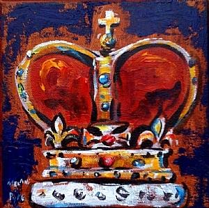 """""""Resplendent"""" acrylic on canvas by Canadian artist Melani Pyke"""