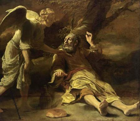 Elijah Fed by an Angel, by Ferdinand Bol