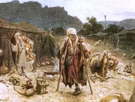"""The four lepers looting the camp of the Syrians"" by William Brassey Hole ("
