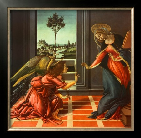 """Annunciation,"" by Sandro Botticelli"