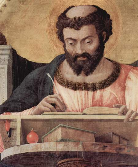 """st. Luke"" from a 15th-century altarpiece"