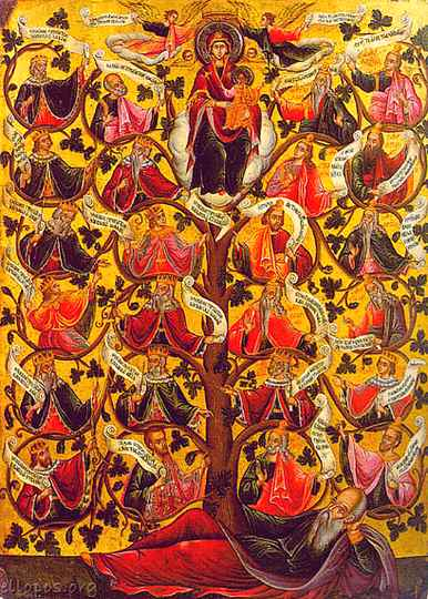 """Tree of Jesse"" from 17th century Greece"