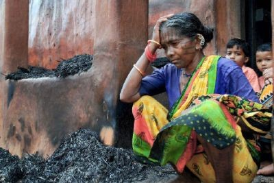 Christians in the state of Orissa, India, have had their homes and churches destroyed in anti-Christian violence.