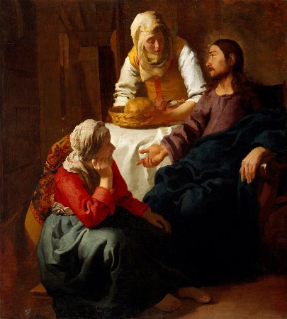 """Christ in the home of Mary and Martha,"" by Johannes Vermeer"