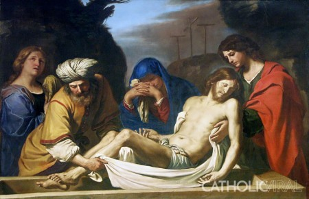 """The Burial in the Tomb"" by Guercino"