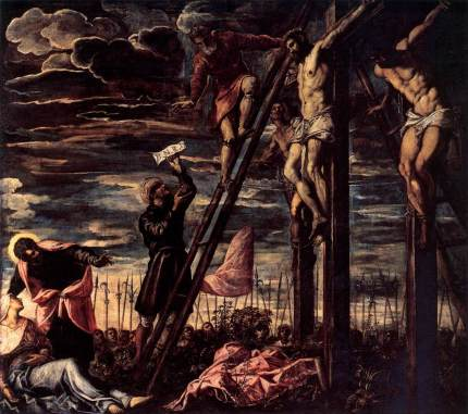 """Crucifixion"" by Tintoretto, 1568"