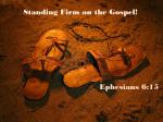 eph6 gospel shoes