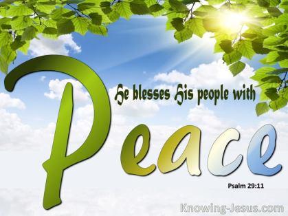 Ps29 peace