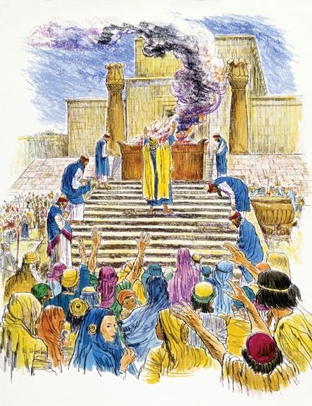 1K8 Solomon-dedicates-temple